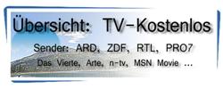 Übersicht kostenloser TV Programme